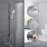 Duschsystem ohne Armatur, WOOHSE Duscharmatur Regendusche...