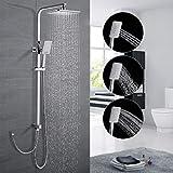 Duschsystem ohne Armatur, WOOHSE Regendusche mit...