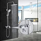BONADE Duschsystem mit Armatur Regendusche Duscharmatur Set...