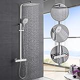Hochwertiges Duschsystem mit Thermostat, WOOHSE Regendusche...